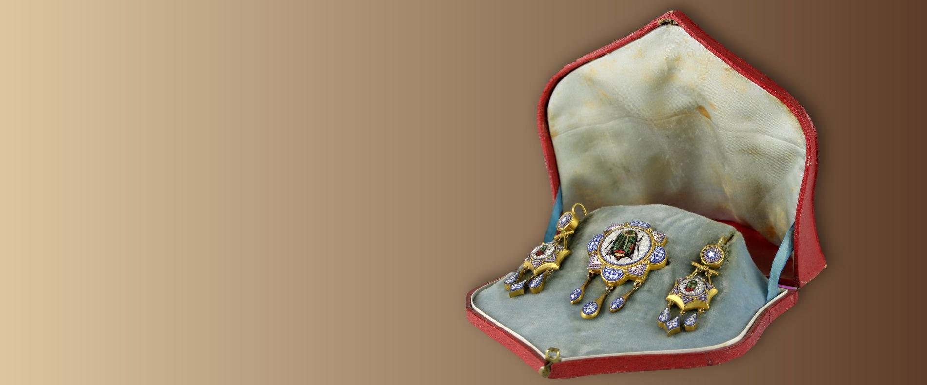Mikromosaik Schmuckset<br />Rom um 1800